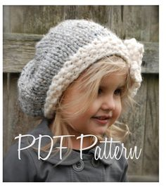 Knitting PATTERN-The Vivian Slouchy (Toddler, Child, Adult sizes) also can be Made to Order. $5.50, via Etsy.