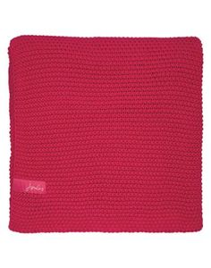 Joules Moss Stitch Throw, Pink.                     This beautifully crafted moss-stitch blanket will be a colourful addition to any part of the house, but it's in the bedroom when it really comes into its own – the size makes it perfect to adorn the end of a double bed.