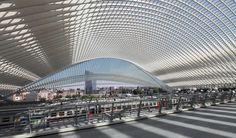 Estación ferroviaria Lieja-Guillemins, Lieja, Bélgica - Santiago Calatrava - foto: Rick Ligthelm