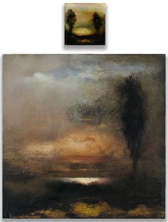 NATHALIE MARANDA - AMNESIE 70 - MIXED MEDIA ON PANEL - 24 X 24 AND 6 X 6 INCHES http://lowegallery.com/artists/index-scrollbar.php?artist=nathalie-maranda