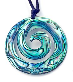 Earthbound Kiwi - New Zealand Maori Carving Paua Tranquility Koru Pendant, $21.95 (http://www.earthboundkiwi.com/necklaces/new-zealand-maori-designs/new-zealand-maori-carving-paua-tranquility-koru-pendant/)