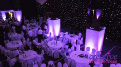 piccadilly ramada manchester purple uplighting