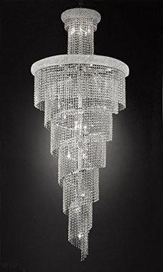 French Empire Empress Crystal(Tm) Chandelier Lighting H W - - Kronleuchter Empire Chandelier, Luxury Chandelier, Contemporary Chandelier, Luxury Lighting, Interior Lighting, Chandelier Lighting, Chandeliers, Stairwell Chandelier, Overhead Lighting