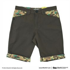 Filter017 LAND OF LOST CAMOUFLAGE TURN UPS SHORTS