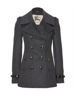 WOOL AND CASHMERE PEA #COAT by Burberry