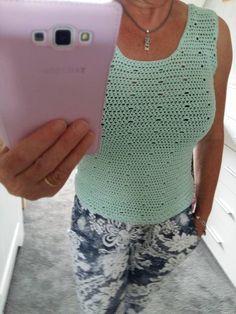 Crochet top summer - free pattern. Zomertop haken, gratis patroon.