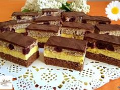 Dessert Bars, Dessert Recipes, Torte Cake, Hungarian Recipes, Recipe Collection, Cake Cookies, Muffin, Food And Drink, Sweets