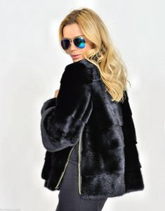 mink furs - milano black saga mink fur jacket