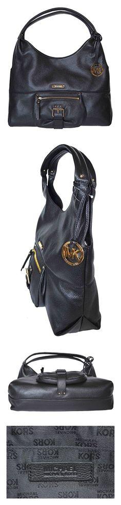 8492120d9618 $348 - Michael Kors Austin Leather Large Shoulder Tote Bag, Black # michaelkors