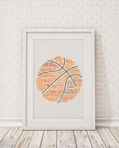 Custom Basketball Art by RubyandBenCreations on Etsy