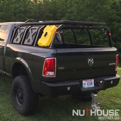 Nutzo - Tech 2 series Expedition Truck Bed Rack - Nuthouse Industries Overland Gear, Overland Truck, Expedition Vehicle, Overland Trailer, Chevy Diesel Trucks, Ram Trucks, Dodge Trucks, Dodge Diesel, Dually Trucks
