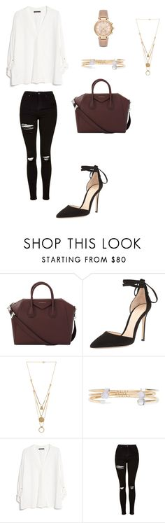 """""""Untitled #112"""" by dianthesiva ❤ liked on Polyvore featuring Givenchy, Gianvito Rossi, Maison Margiela, URiBE, MANGO, Topshop and Michael Kors"""