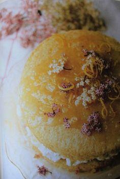 Elderflower and lemon layer cake.  Elisabeth Luard