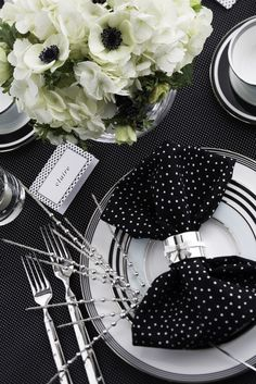 polka dot napkin & striped plates  / Photo by Brian Donnelly