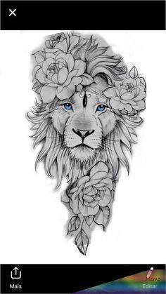 Leo Tattoo Designs, Tattoo Design Drawings, Tattoo Sleeve Designs, Flower Tattoo Designs, Animal Sleeve Tattoo, Lion Tattoo Sleeves, Best Sleeve Tattoos, Leo Lion Tattoos, Body Art Tattoos