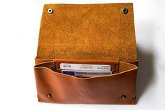 handmade leather wallet brown