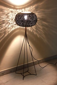 Now why create a textured wall, when a lamp can do that for you! #floor #lamp #interior