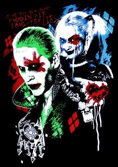 Joker and Harley suicide squad Marvel Dc, Dc Comics, Hearly Quinn, Joker Und Harley Quinn, Comic Villains, Im Batman, Gotham Batman, Batman Art, Batman Robin