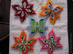 Поделка изделие Оригами китайское модульное Бабочки модульное оригами Бумага фото 1