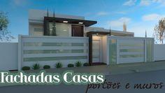 Decor Salteado - Blog de Decoração   Construção   Arquitetura   Paisagismo: 20 Fachadas de casas modernas com muros e portões!