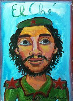 """Che Guevara 7"" , acrílico sobre papel, 25x 35 cm.2017"