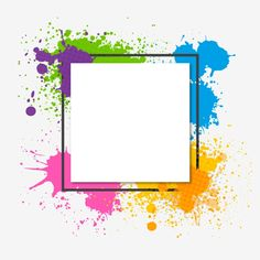 Watercolor Abstract Colorful Trendy Frame Vector and PNG