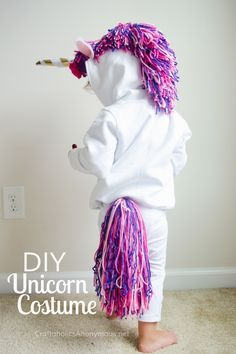 Halloween Unicorn costume for kids DIY tutorial