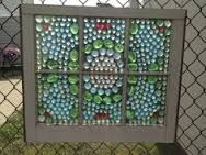 My first glass on glass mosaic :) Faux Stained Glass, Stained Glass Projects, Mosaic Projects, Art Projects, Mosaic Art, Mosaic Glass, Mosaic Windows, Window Art, Window Glass