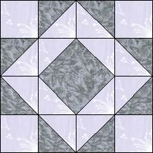 Block of Day for October 30, 2016 - Star in Diamond-strip-piecing-The pattern may be downloaded until: Tueday, November 8, 2016.