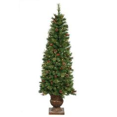 Artificial Christmas Tree - 6 ft. by Gordon Companies, Inc. $271.50. Shipping Weight: 51.00 lbs. Picture may wrongfully represent. Please read title and description thoroughly.. This product may be prohibited inbound shipment to your destination.. Please refer to SKU# ATR25787198 when you inquire.. Brand Name: Gordon Companies, Inc Mfg#: 30754387. Artificial Christmas tree/Mixed Pine/492 green tips/200 clear mini lights on green wire/decorated with pine cones, berries and bottle...