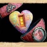 Tejae's art hearts. encased inside of more hearts
