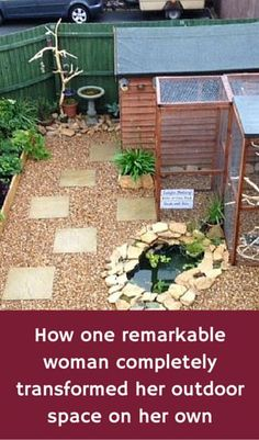 How One Remarkable Woman Completely Transformed Her Outdoor Space On Her Own