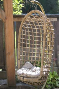 Hanging Wicker Basket Chair - I wish we still had this!