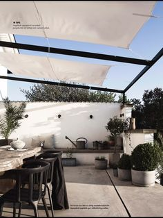 Patio concept vs. solid structure