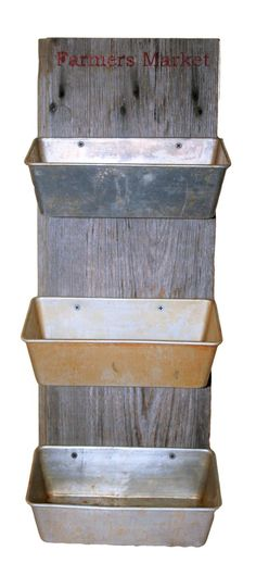 Repurposed loaf pans and barn wood make great hanging produce storage. 58 Of The Most Trending Interior Modern Style Ideas You Will Want To Try – Repurposed loaf pans and barn wood make great hanging produce storage. Repurposed Items, Repurposed Furniture, Diy Furniture, Bedroom Furniture, Repurposed Wood Projects, Furniture Websites, Furniture Removal, Furniture Projects, Furniture Design