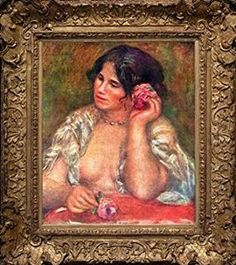 Pierre-Auguste Renoir Gabriele with a Rose Museum Quality Printed Art & Frame $8.99