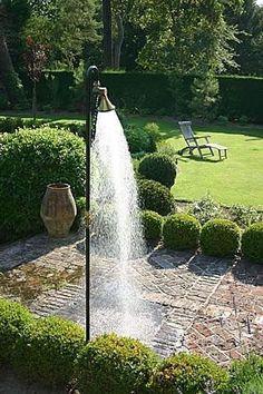 A shower in the garden