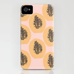 Papaya Print iPhone Case by Bouffants and Broken Hearts - $35.00