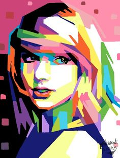 Taylor swift wpap digital art #deviantart