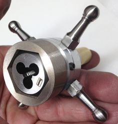 MOWRER WW LATHE TOOLS: Hex die adaptors for watchmakers lathe tailstock die holder