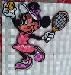 Minnie Mouse hama perler beads by deco.kdo.nat