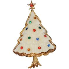 Frosted Cookie Christmas Tree Pin ~ Book Piece