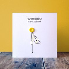 Congratulations on your Baby Bump pregnancy news card