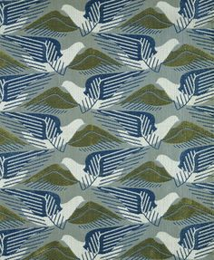 Fabric Designs 'Avis' furnishing fabric design by American-born textile designer Marion… - Furnishing fabric 'Avis' of machine-woven cotton, rayon and spun rayon, designed by Marion Dorn for Edinburgh Weavers, Carlisle, ca. Motifs Textiles, Textile Prints, Textile Patterns, Textile Design, Fabric Design, Lino Prints, Block Prints, Tessellation Patterns, Art Deco Fabric