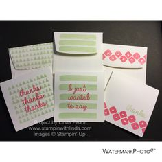 Set of 3 x 3 Note Cards Using February 2015 Layers of Gratitude Paper Pumpkin Stamp set
