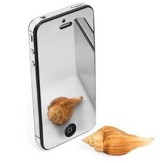 - Turn your iPhone 5 into a compact mirror! Perfect Mirror Screen Protector for iPhone 5 turns on when the screen is off. When the screen is on, the image becomes brighter! High quality screen protects your iPho Buy Iphone, Apple Iphone 5, Compact Mirror, Screen Protector, Gadgets, Melbourne, Australia, Gift, Image