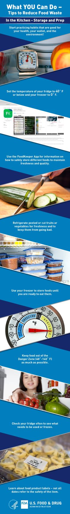 tips to reduce foodwaste in the kitchen through proper storage and preparation practice habits