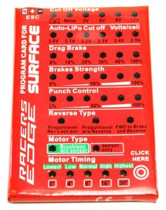 Racers Edge SGSL390 Setup Card Wizard ESC *** You can get additional details at the image link.