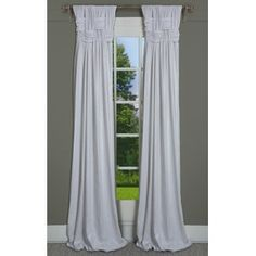 House of Hampton Scholten Solid Room Darkening 100% Cotton Pinch Pleat Curtains & Reviews | Wayfair Faux Silk Curtains, Pinch Pleat Curtains, Pleated Curtains, Cool Curtains, Grommet Curtains, Panel Curtains, Living Room Decor Curtains, Room Darkening Curtains, Living Rooms