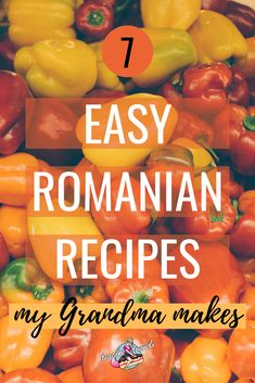 7 Easy Romanian recipes my grandma makes! Recipes straight from my grandmother's… 7 Easy Romanian recipes my grandma makes! Recipes straight from my grandmother's recipe book including quince stew, stuffed bell peppers and more! English Desserts, English Food, Scottish Recipes, Turkish Recipes, Hungarian Recipes, Romanian Desserts, Romanian Recipes, Soup Recipes, Vegetarian Recipes